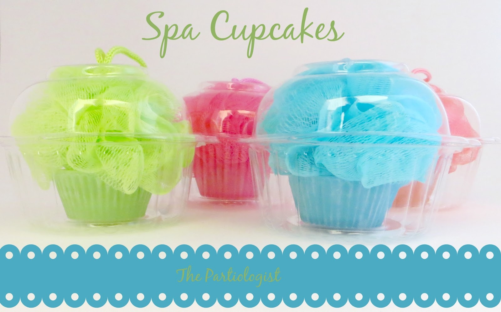 The Partiologist Spa Party Loofah Cupcake