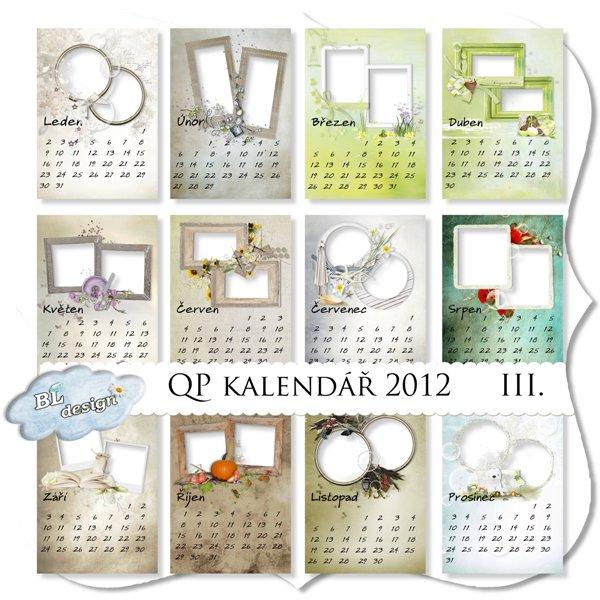 Qp šablony kalendář 2012