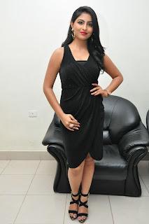 Actress Kruthika Jayakumar Pictures in Black Dress at Vinavayya Ramayya Movie Audio Release  0135