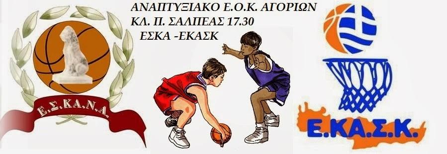Αγώνας για το αναπτυξιακό αγοριών ΕΣΚΑΝΑ -ΕΚΑΣΚ την Κυριακή (17.30) στο Σαλπέας
