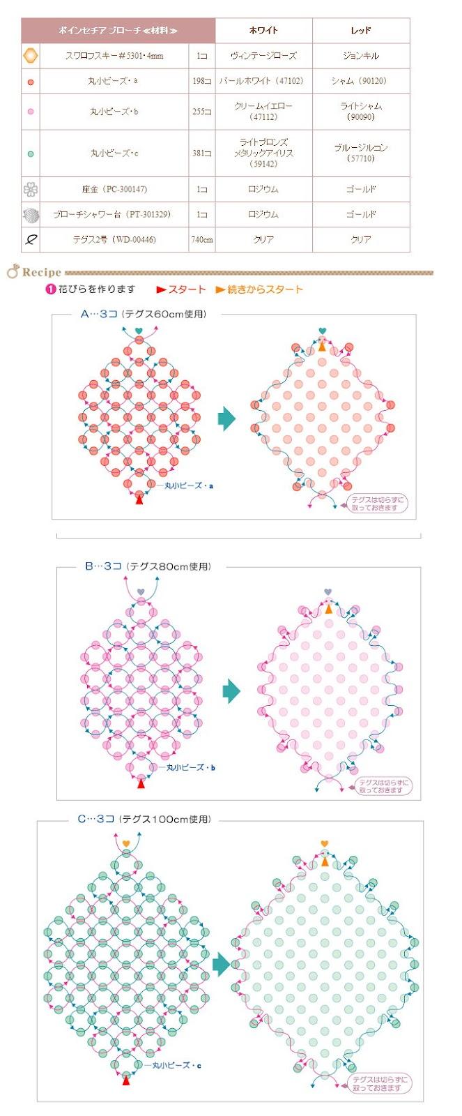 YUU。KU*串珠+手工DIY: 聖誕花胸針