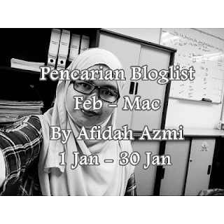 Pencarian Bloglist Feb-Mac By Afidah Azmi