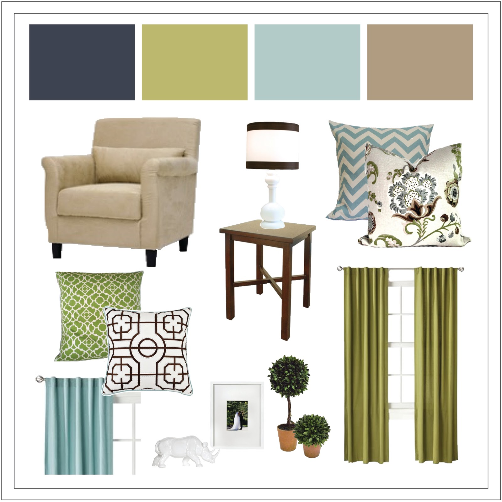 Numbered Street Designs: Online Living Room Design Board