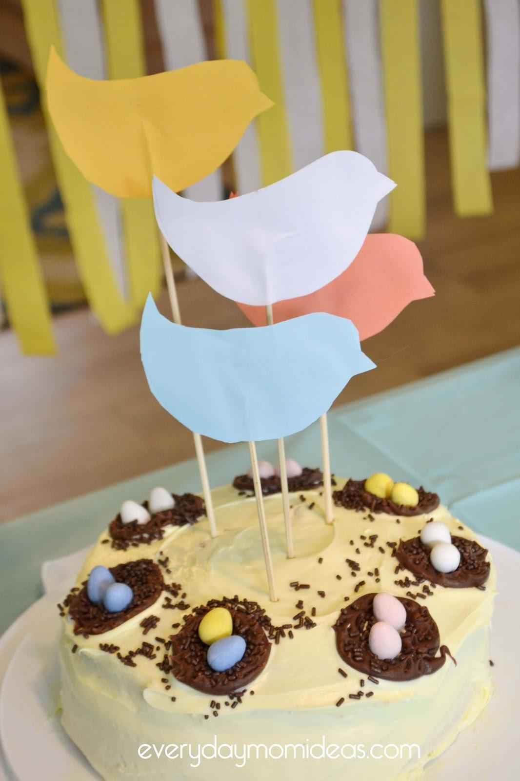 Simple Bird Themed Cake