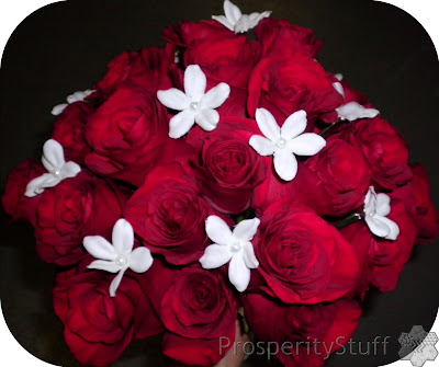 Bride's Bouquet - Red roses