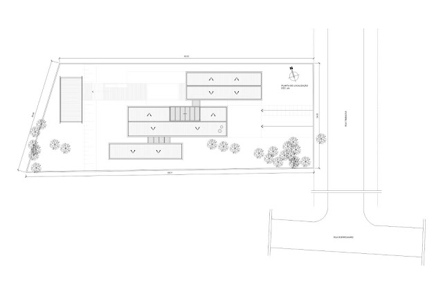 Site plan of the Haack House