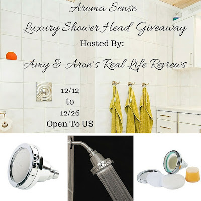 Enter the Aroma Sense Luxury Shower Head Giveaway. Ends 12/26
