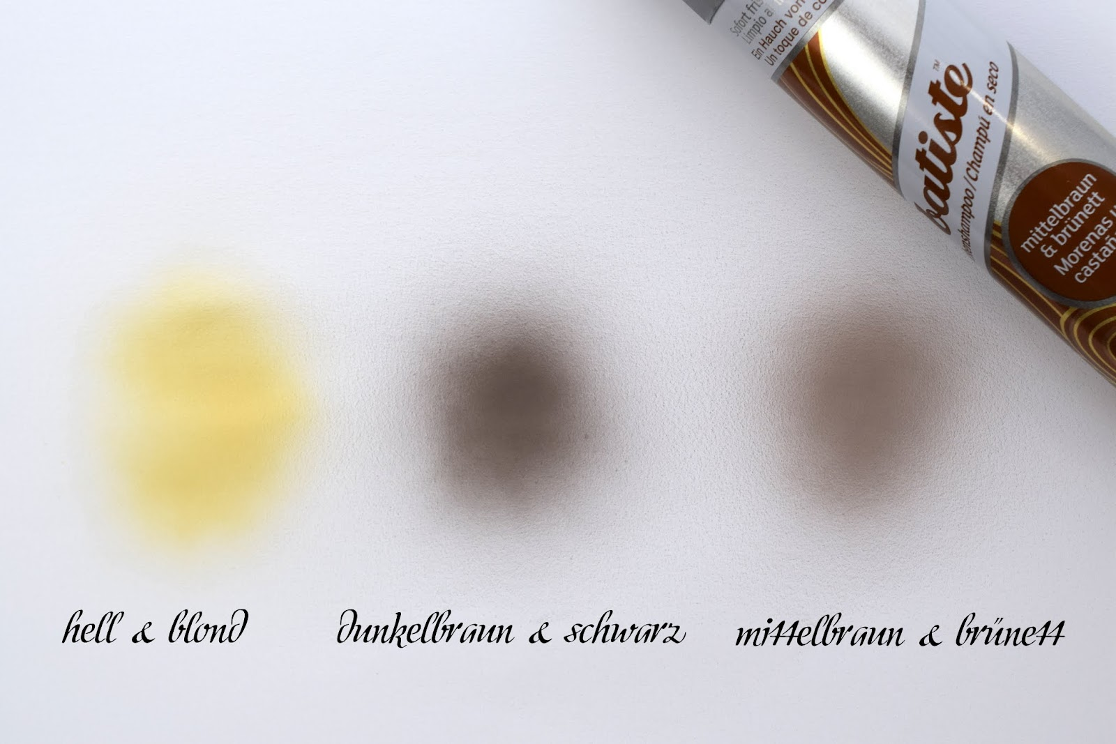 Drei Farbvarianten Batiste Hint of Colour Dry Shampoo