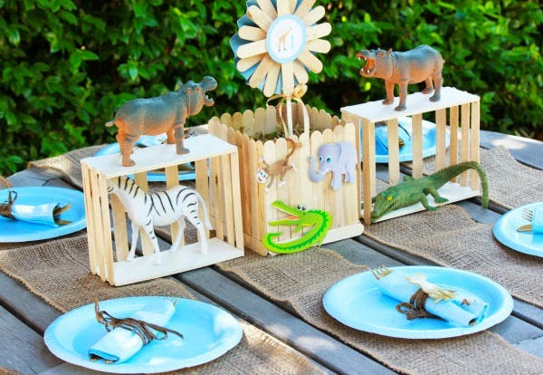 cool popsicle stick party craft zoo
