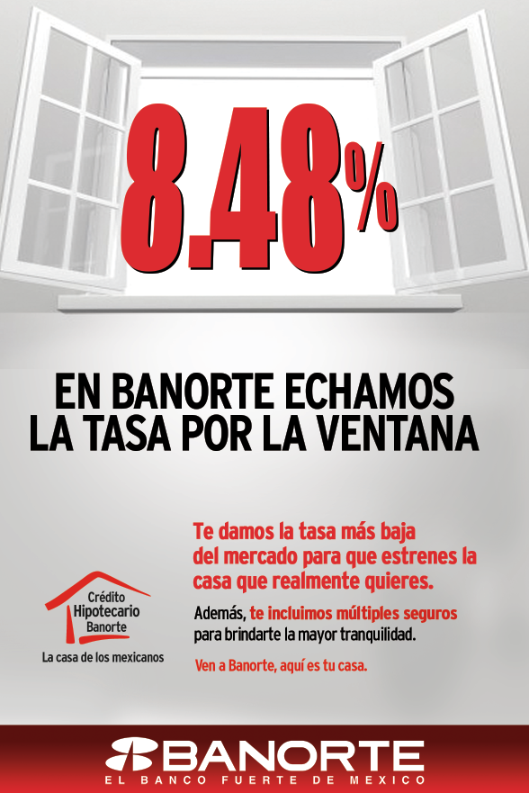 hipoteca tasa credito bancaria mexico:
