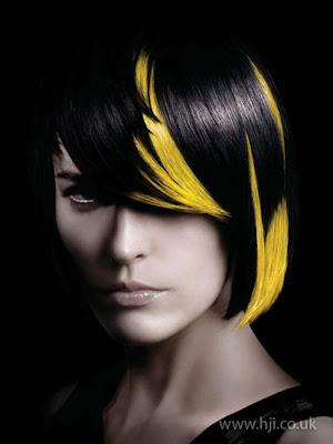 yellow streaks