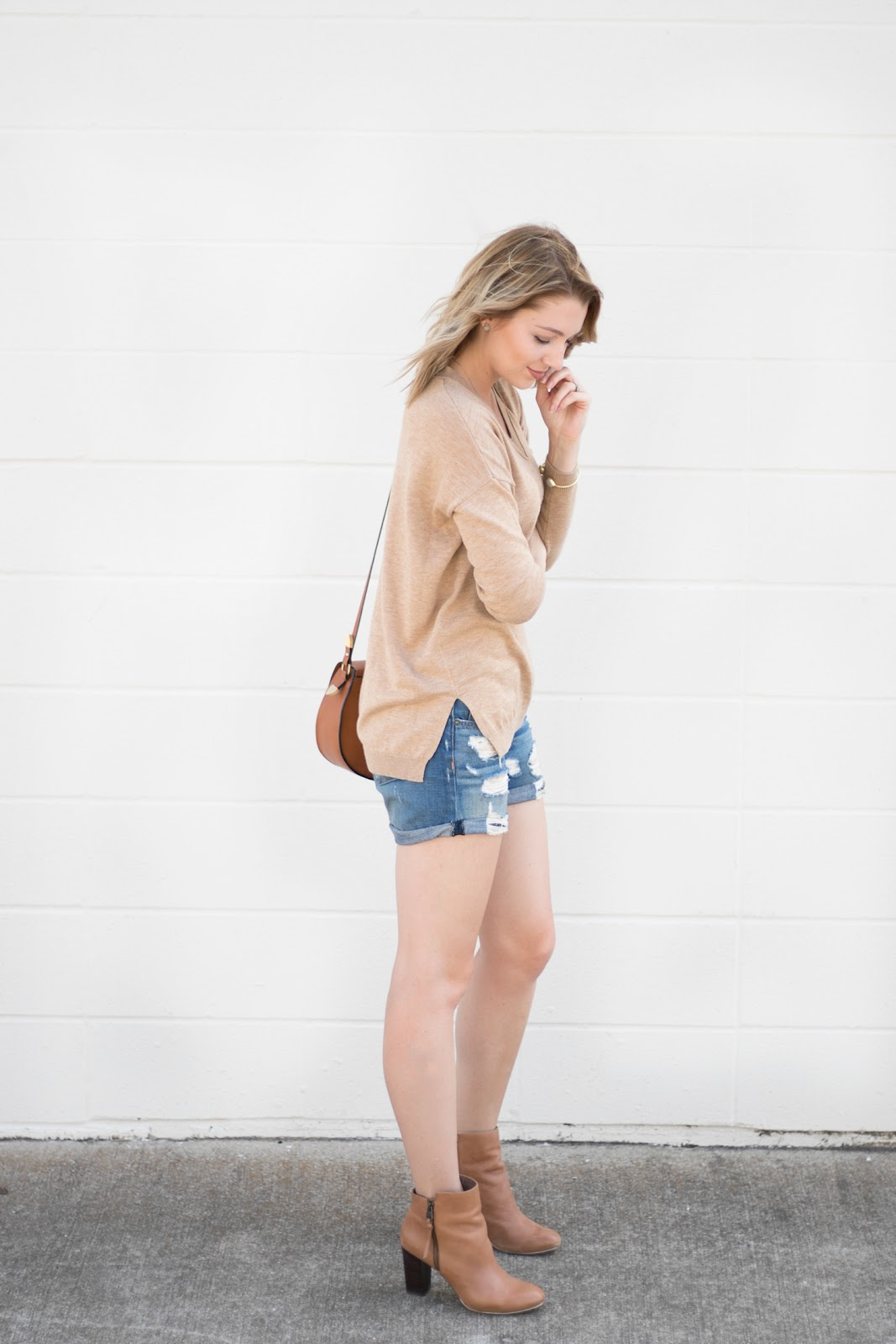 boyfriend shorts with booties
