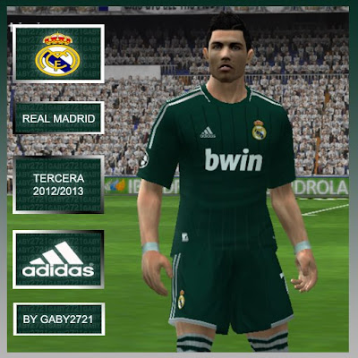 Terceiro Uniforme Real Madrid 2012/2013 by GABY - PES 6 | Option File