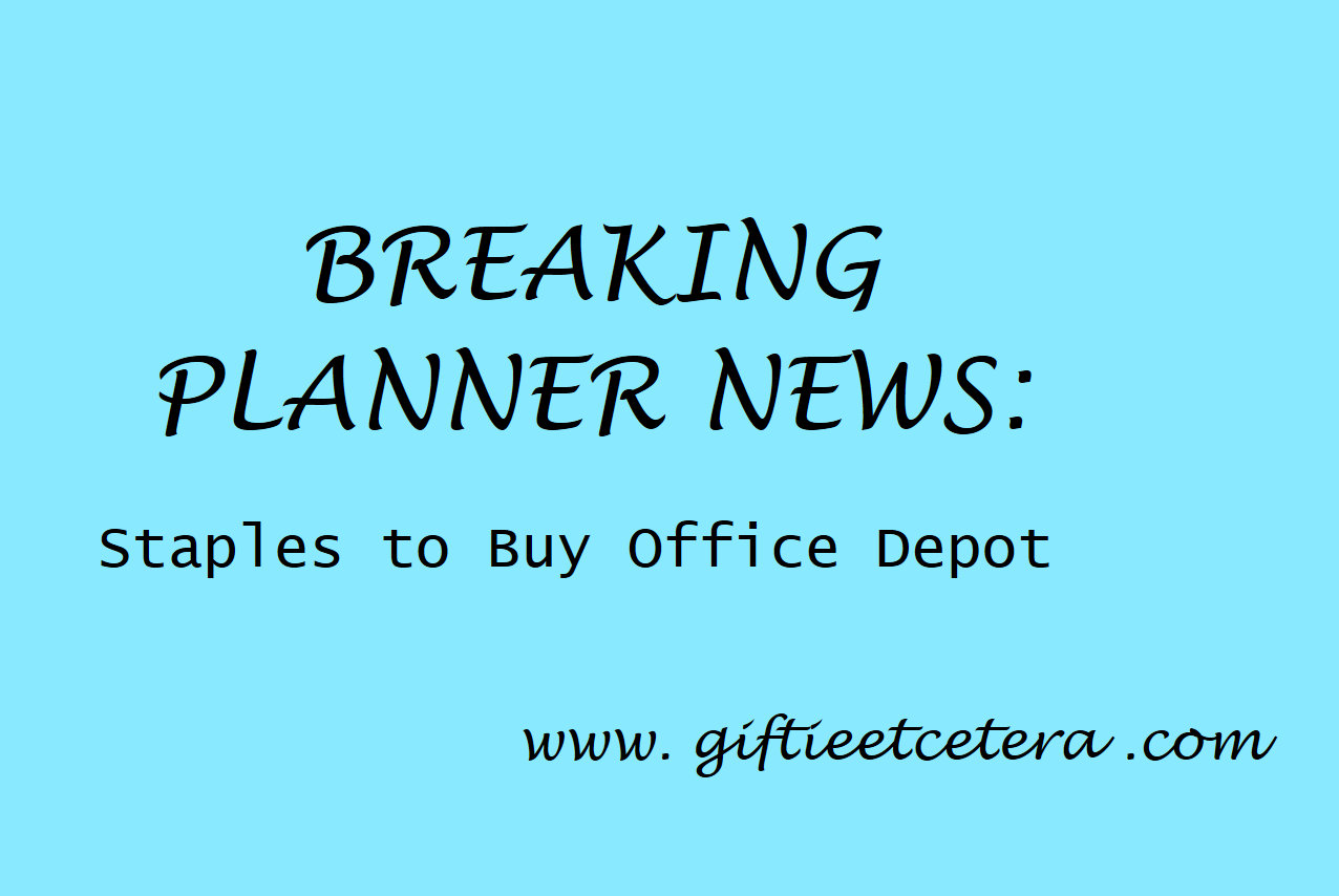 planner, staples, office depot