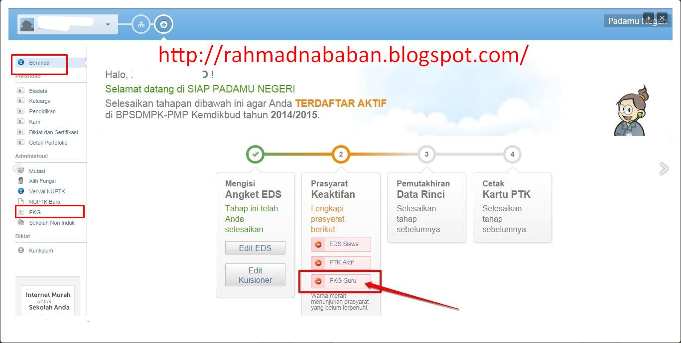 Penilaian Kinerja Guru Pkg 2014 Rahmad Nababan Blog