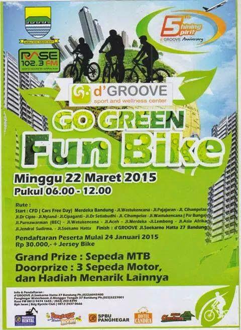 Event Sepeda Santai Go Green Bandung 2015