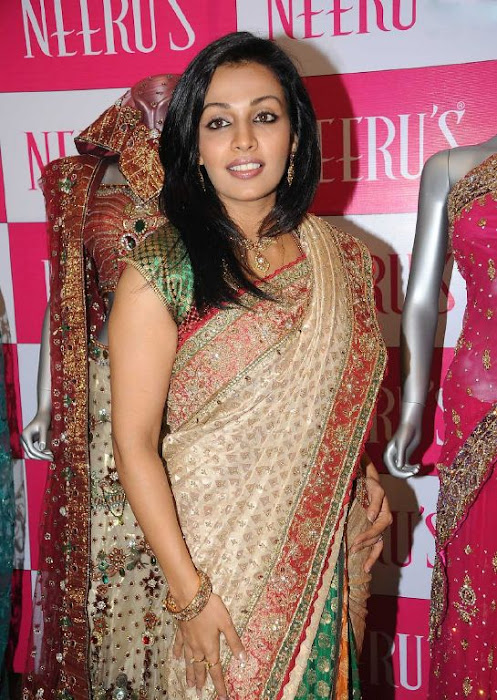 asha saini aka mayuri in silk saree actress pics