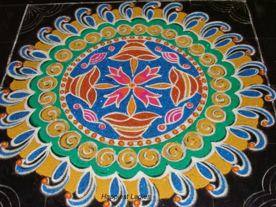 circular rangoli design for navaratri