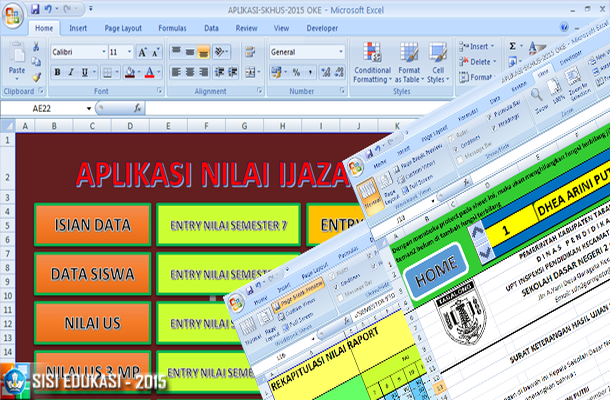 Aplikasi SKHUS SD dan Nilai Ijazah Tahun Pelajaran 2014/2015