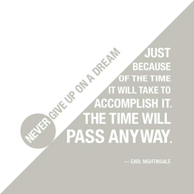Never give up on a dream just because the of the time it will take to accomplish. The time will pass anyway.