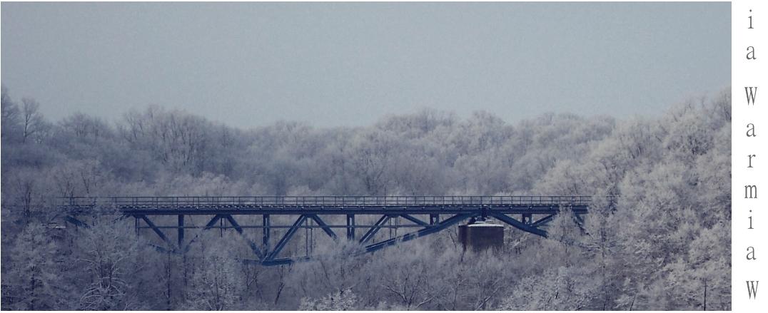 Most kolejowy w Pieniężnie