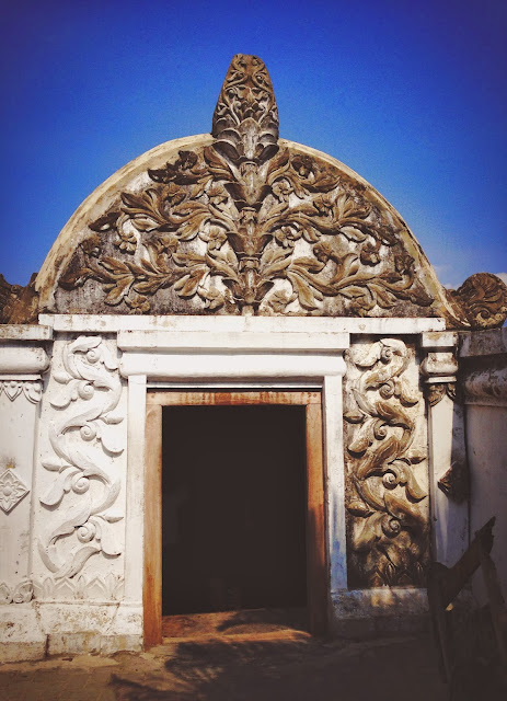 Door of Yogyakarta Taman Sari (Water Castle)