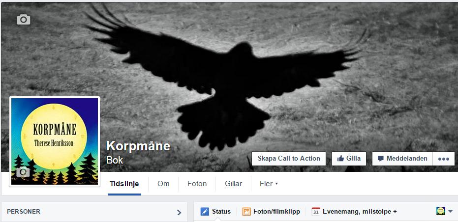 Korpmåne finns på facebook