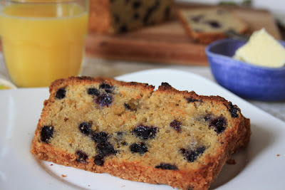 Blueberry cheese bread with orange an easy tea bread