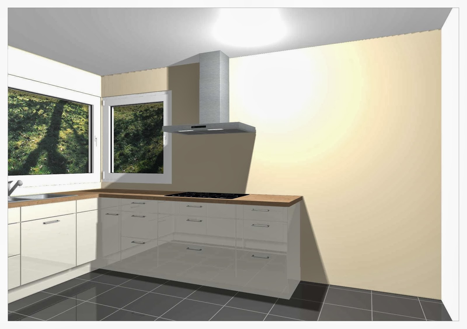 tcm bauen ein haus unsere k che ist fertig. Black Bedroom Furniture Sets. Home Design Ideas