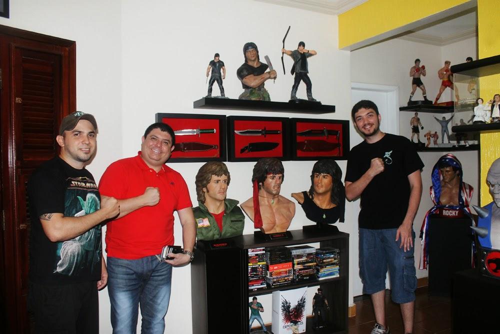 Osmar e Roberto visitando o amigo Edinho Maga!!!
