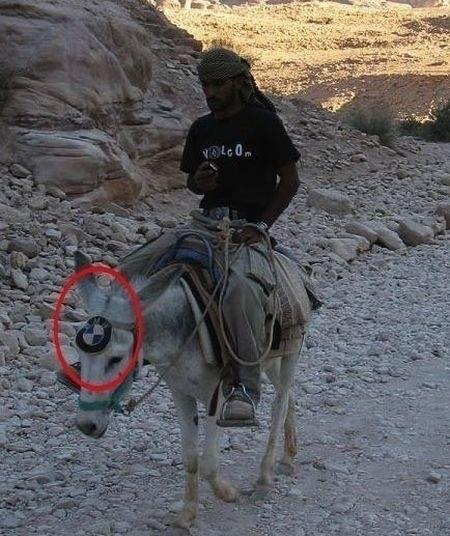 keledai di afganistan bermerk BMW