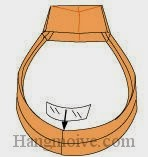 Bước 15: Dùng băng dính dán lại để hoàn thành cách xếp cái nhẫn có mặt bằng giấy theo phong cách origami.
