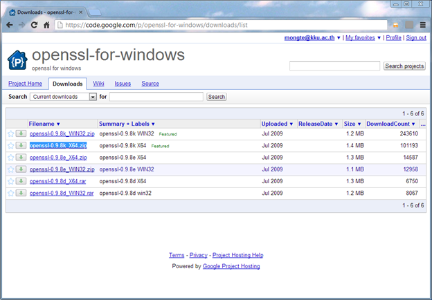 how to download openssl windows