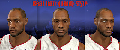 NBA 2K14 LeBron James Bald (Receding Hairline)