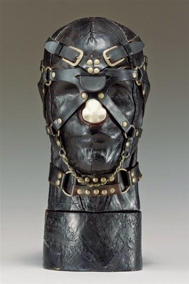 Nancy grossman cabezas heads cuero leather bdsm art