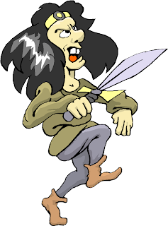Man Hold A Dagger Free Clipart