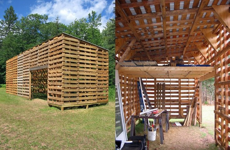 Barn Made with Pallets