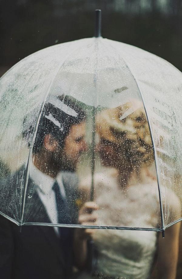 ideas originales para bodas de invierno paraguas transparente