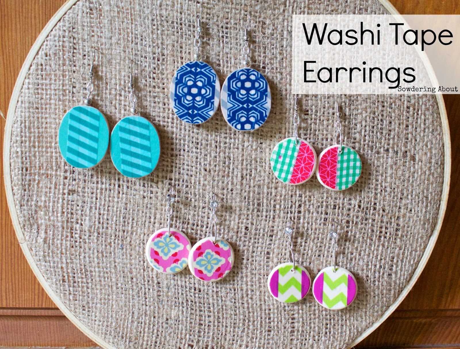Conosciuto Sowdering About: Washi tape earrings: A tutorial BA93