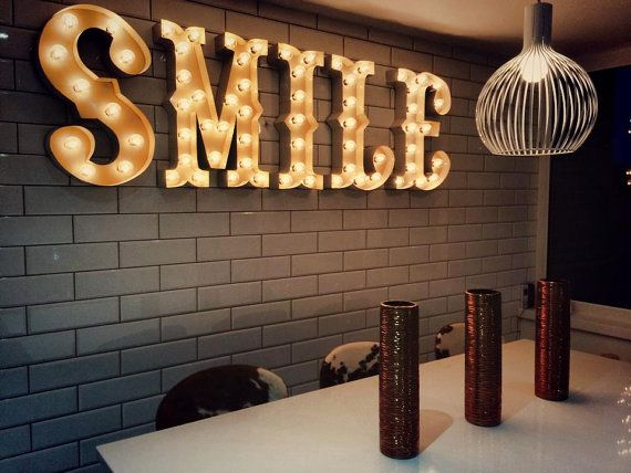 Letters Met Licht : Did you c interieur marquee letters