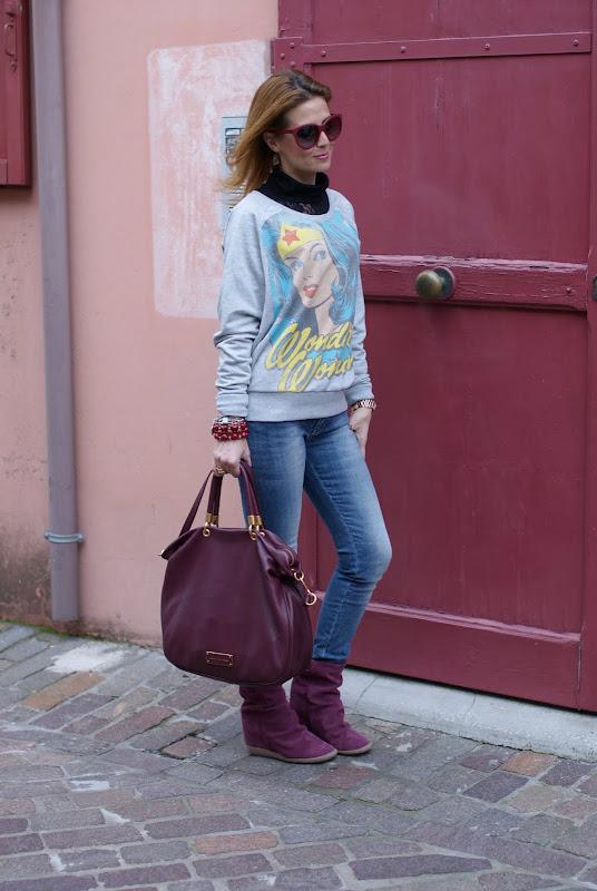 printed sweatshirts, felpa stampata, too hot to handle Marc by Marc Jacobs