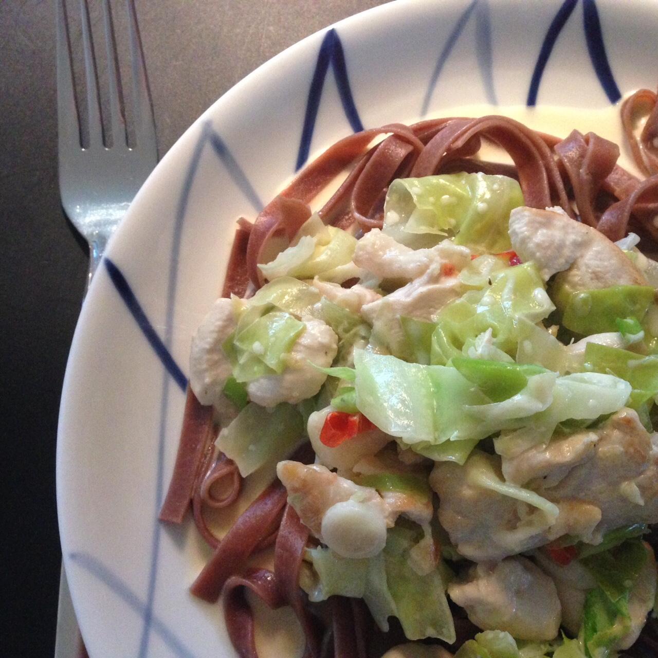 pasta med spidskål