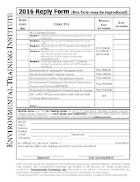 2016 ETI Reply Form