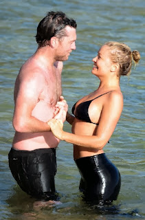 Lara Bingle Black Bikini Sydney