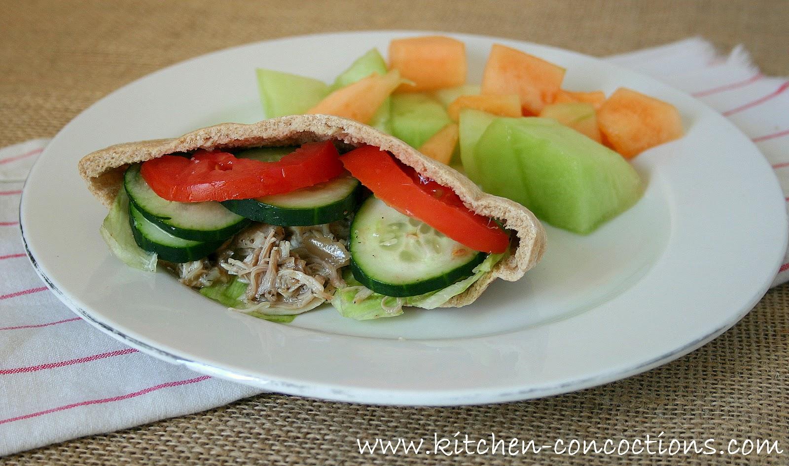 Website Wednesday: Greek Chicken Pita Pockets - Kitchen ...