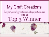 Craft Creations Top 3 Winner