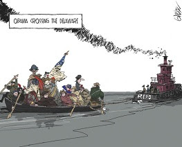 Gable: Obama crossing the Delaware.
