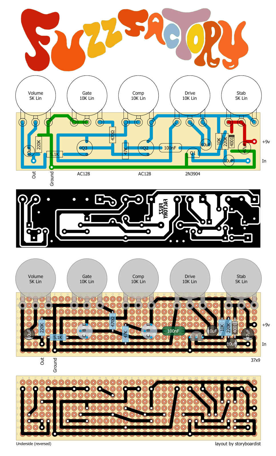 fuzz factory schematic transistor schematic