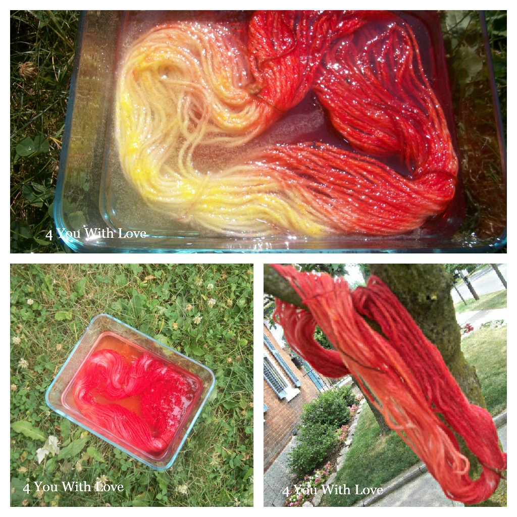 Multi Color Sun Dyed Yarn With Kool Aid 4 You With Love