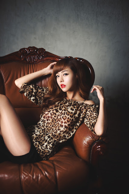 3 Seo Jin Ah - Sexy Leopard-Very cute asian girl - girlcute4u.blogspot.com
